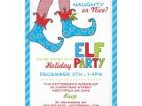 Elf On the Shelf Party Invitations Naughty or Nice Magic Elf Holiday Party Invitation Elf