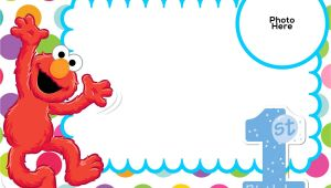 Elmo 1st Birthday Party Invitations Free Sesame Street 1st Birthday Invitation Template Free