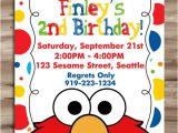 Elmo Birthday Invitation Template Elmo Invitation Elmo Invitation Elmo Birthday Invite Sesame