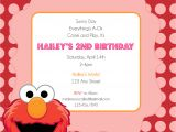 Elmo Birthday Invitation Template Elmo Printable Birthday Invitation