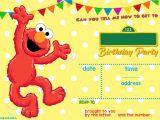 Elmo Birthday Invitation Template Elmo Sesame Street Birthday Party Invitations