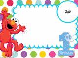 Elmo Birthday Invitation Template Free Sesame Street 1st Birthday Invitation Template Free
