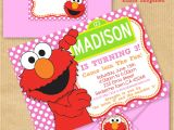 Elmo Birthday Invitation Template Girls Elmo Party Invitation 5×7 with Address by