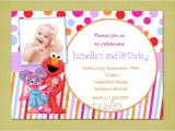 Elmo Birthday Invitations Walmart Elmo and Abby Cadabby Sesame Street Birthday Invitation