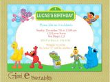 Elmo Birthday Invitations Walmart Elmo Sesame Street Birthday Invitation