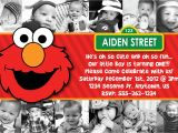 Elmo Customized Birthday Invitations Custom Elmo Invitation Birthday Baby Shower by