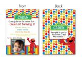 Elmo Customized Birthday Invitations Custom Elmo Invitation Children S Elmo by Kellinichollsdesigns