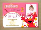 Elmo Customized Birthday Invitations Custom Pink Elmo Girl Birthday Invitation Digital File