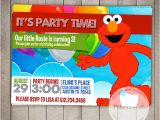 Elmo Customized Birthday Invitations Elmo Custom Printable Birthday Invitation