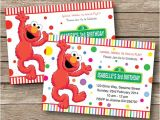 Elmo Customized Birthday Invitations Elmo Invitation Birthday Party Personalized by Redapplestudio