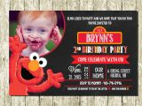 Elmo Customized Birthday Invitations Elmo Personalized Digital Printable Chalkboard