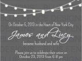 Elopement Party Invitation Wording 9 Best Post Reception Invitations Images On Pinterest