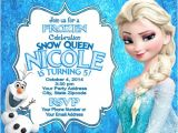 Elsa Party Invitation Template Frozen Elsa Olaf Birthday Party Invitations Personalized