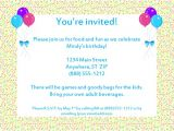 Email Birthday Invitations Wording Email Party Invitations Template
