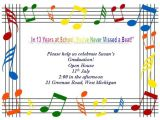 Email Party Invitations with Music Free Printable Graduation Stationery