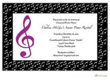 Email Party Invitations with Music Music Party Invitations Oxsvitation Com
