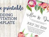 Email Wedding Invitation Template Free Wedding Invitation Template Floral Peonies Paper