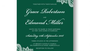 Emerald Green Wedding Invitation Template Wedding Invitation Sample Emerald Green Invitation