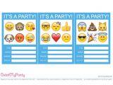 Emoji Birthday Invitation Template Free Emoji Party Printables