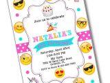 Emoji Birthday Invitation Template Glitter Bow Emoji Birthday Party Invitation Emoji