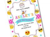 Emoji Birthday Invitations Free Emoji Birthday Party Invitation Emoji by