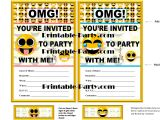 Emoji Birthday Invitations Free Printable Emoji Printable Birthday Supplies