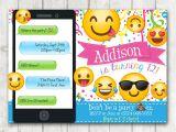 Emoji Birthday Invitations Free Printable Printable Emoji Birthday Party Invitation Emoji Invitations