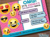 Emoji Birthday Invitations Free Printable Printable Emoji Birthday Party Invite Girl S Emoji