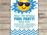 Emoji Pool Party Invitations Emoji Pool Party Birthday Invitations Swim Party Beach Pool