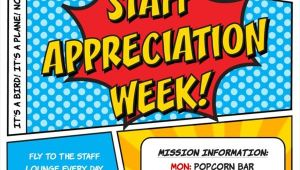 Employee Appreciation Party Invitation Kara 39 S Party Ideas Superhero themed Staff Teacher