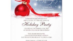 Employee Christmas Party Invitation Template Corporate Holiday Party Invitation Template Zazzle Com
