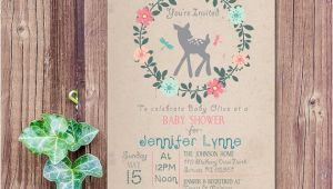 Enchanted forest Baby Shower Invitations Enchanted forest Baby Shower Invitation Baby Deer Invitation