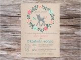 Enchanted forest Baby Shower Invitations Enchanted forest Diy Printable Baby Shower Invitation by