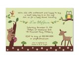 Enchanted forest Baby Shower Invitations Lambs and Ivy Enchanted forest Neutral Digital Baby Shower