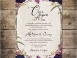 Enchanted forest themed Wedding Invitations Enchanted forest Invitation Purple Wedding Invitation