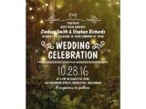 Enchanted forest themed Wedding Invitations Enchanted forest String Lights Wedding Invitations
