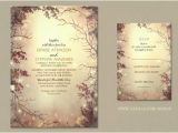 Enchanted forest themed Wedding Invitations Rustic Wedding Wedding Invitations by Jinaiji