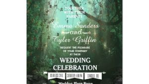 Enchanted forest Wedding Invitation Template Enchanted forest Lights Rustic Wedding Invitation Zazzle Com