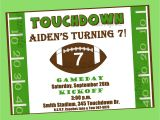 End Of Football Season Party Invitation Wording Football Invitation Printable or Printed with Free Shipping