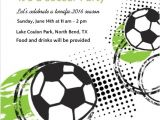 End Of Football Season Party Invitation Wording Green and Black soccer Game Party Invitation soccer
