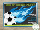 End Of Football Season Party Invitation Wording soccer Invitation soccer Printable Sports Invite End Of Season