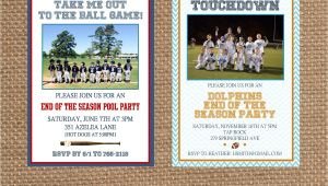 End Of Football Season Party Invitation Wording Sports End Of Season Party Invitation Choose Your Colors