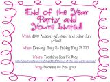 End Of School Year Party Invitation Wording 6 Incredible Year End Party Invitation Braesd Com