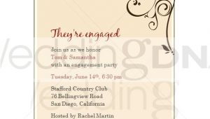 Engagement Party Invitation Examples Engagement Party Invites Template