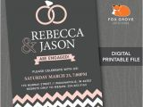 Engagement Party Invitations Etsy Printable Engagement Party Invitation by Foxgrovedesigns