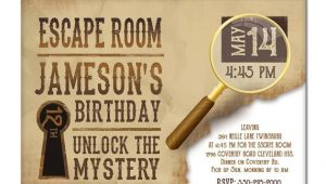 Escape Room Birthday Invitation Template Free Escape Room Invite Boys or Girls Birthday Invitation Gold