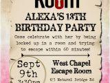 Escape Room Party Invitation Escape Room Birthday Party Invitations