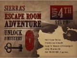 Escape Room Party Invitation Free Printable Escape Room Party Invite Western Escape Room