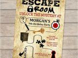 Escape Room Party Invitation Ideas Escape Room Birthday Invitation Escape theme Invitation