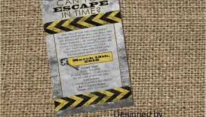 Escape Room Party Invitation Ideas Escape Room Digital Printable Party Invitation Mystery